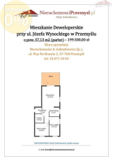 Apartment for sale with the area of 57 m2